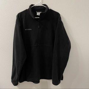 Columbia fleece half zip jacket black large